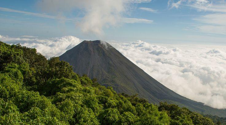 Izalco Volcano in Acajutla, El Salvador.