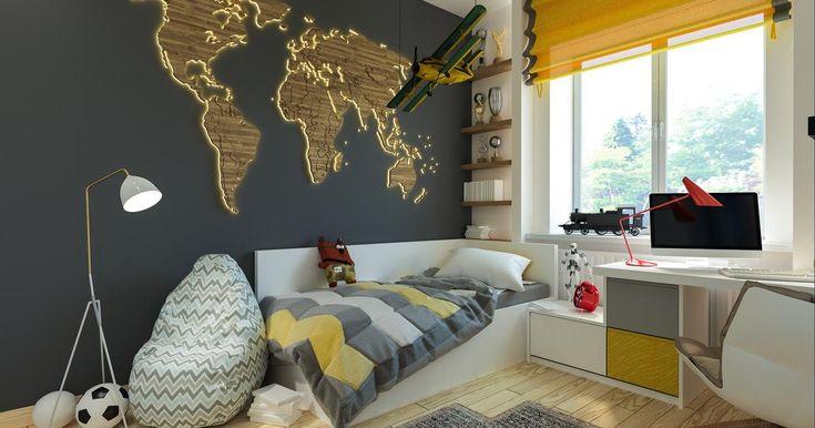 Pokój młodzieżowy może być modny, piękny i funkcjonalny. Podoba się Wam? Nam bardzo! #aranżacja #pokój