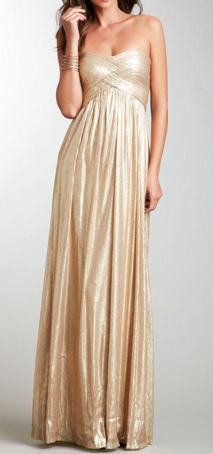 Gold leaf gown