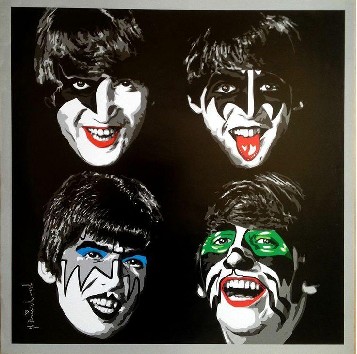 "Meme Kiss And Makeup: MBW Mr Brainwash ""Kiss The Beatles"""