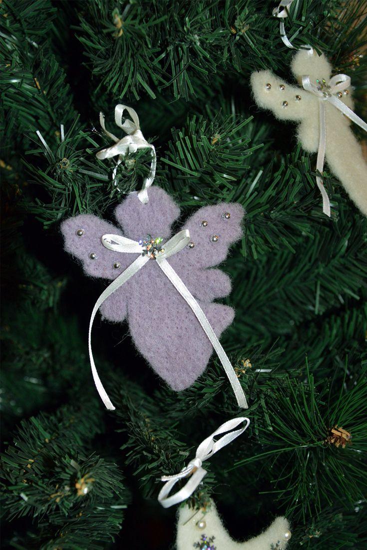 Angelo e stella di lana cotta Un'idea originale per decorare il tuo albero di Natale. #Christmas #diy #handmade #craft #star #Angel #wool