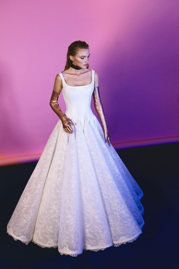 Excepcional Vestidos De Novia No Nupciales Ideas Ornamento ...