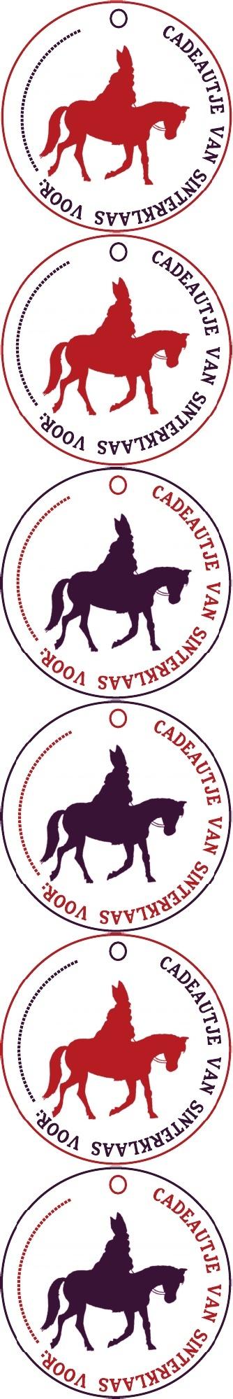 Sinterklaas labels.....in red or purple
