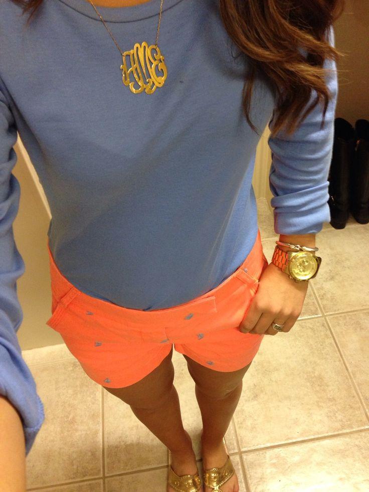 Orange and periwinkle