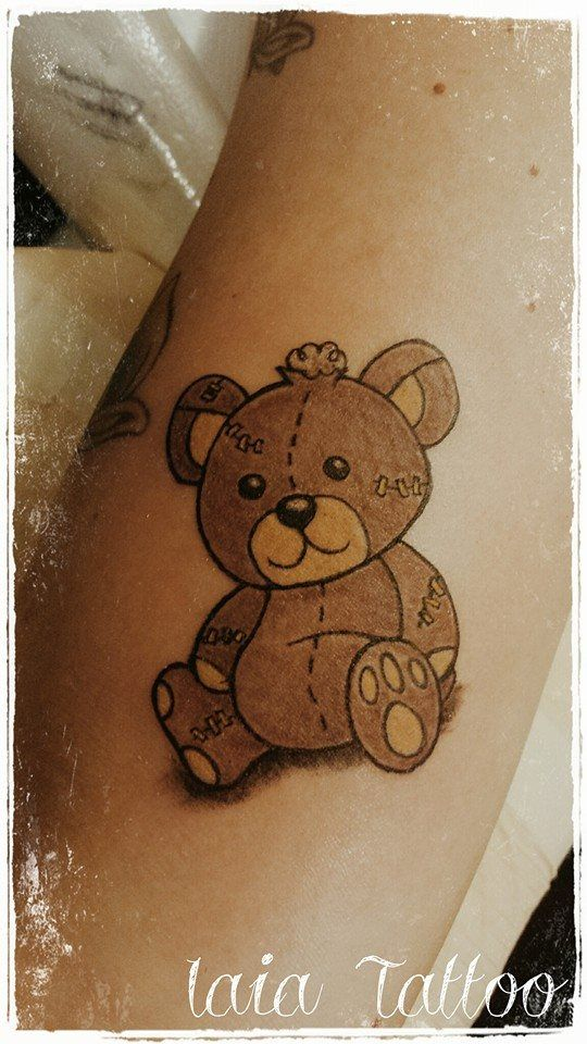 Teddy Bear Tattoo I like the shadow