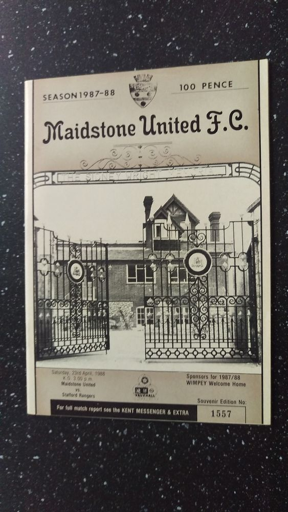 MAIDSTONE UNITED V STAFFORD RANGERS 1987-88