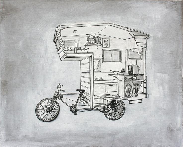Kevin Cyr's Caravan on a Bike