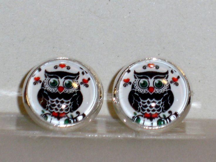 Ohrstecker - Ohrstecker Eule Ohrringe Damen Ohrschmuck Glas - ein Designerstück von ausgefallene-Ohrringe bei DaWanda