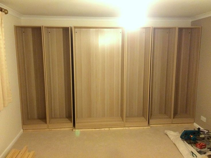 How to use standard IKEA PAX wardrobe frames and doors along with some extra timber framework to create that traditional custom fitted wardrobe look.