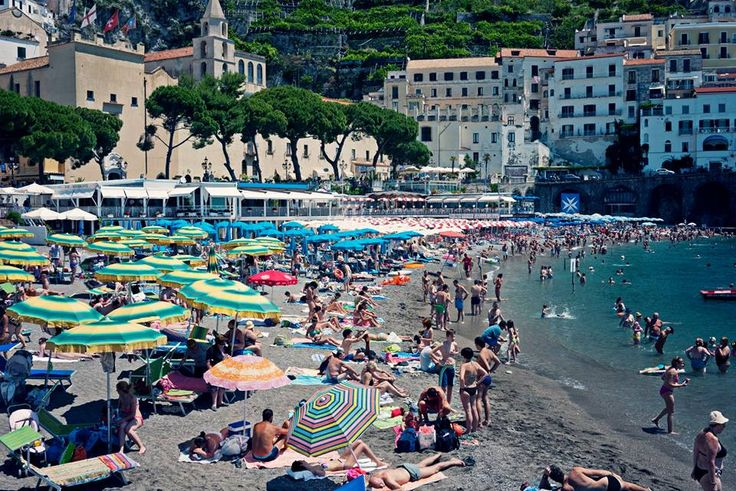 Amalfi Beach is packed today - but there's still space for you...are you coming?