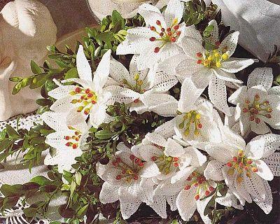 White lilies, crochet ... @Afshan Shahid