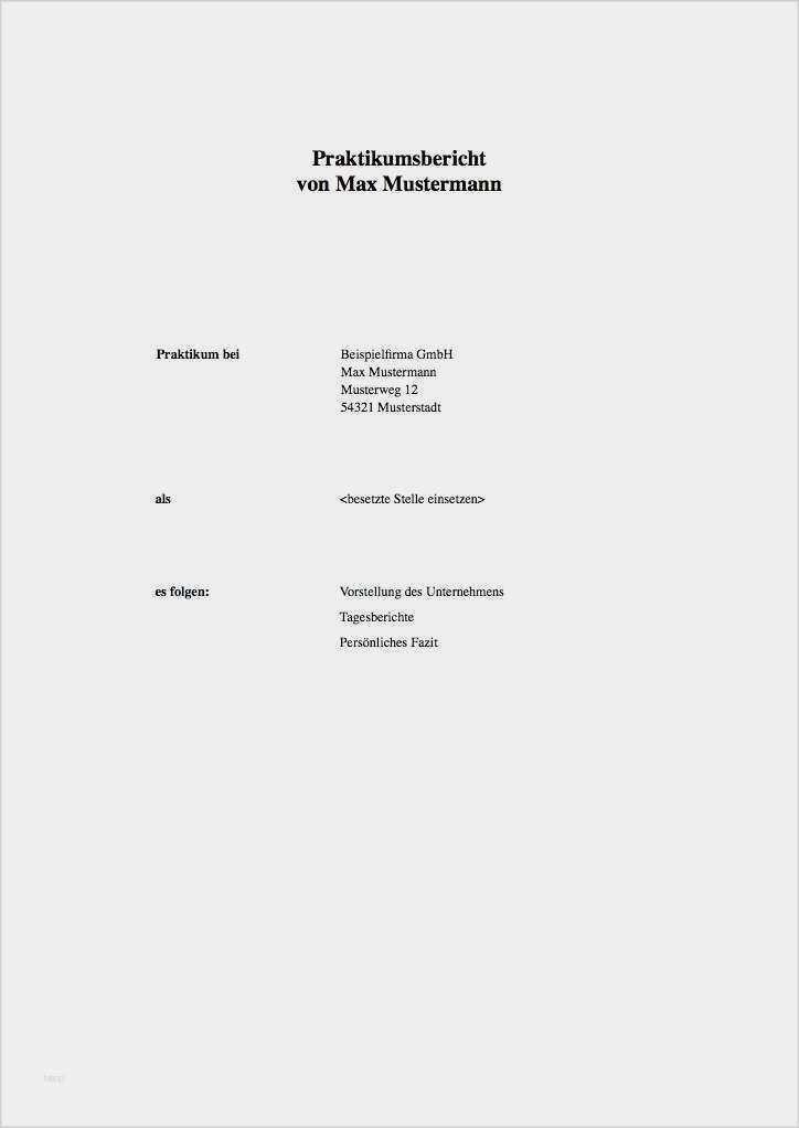 Deckblatt Vorlage Schulerpraktikum Kostenloser Download 5