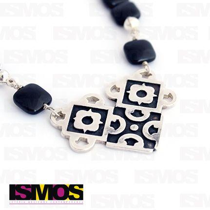 ISMOS Joyería: collar de plata y ónix // ISMOS Jewelry: silver and onix necklace
