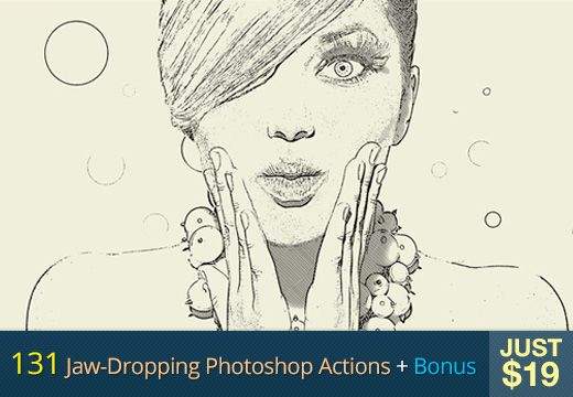 How would you like to change the way your photographs look to something like a well-drawn sketch? Or a vintage look, perhaps? This is just the tip of the iceberg. With these 131 Photoshop actions, there's much more that you can achieve. Convert your photos to black and white or choose from a myriad of effects to apply to your images. Price – $251   $19 (92% off) - 131-photoshop-actions-designtnt-preview