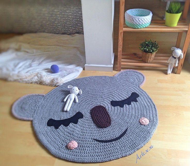 Image of Alfombra infantil conejito y koala*Children rug rabbit and koala