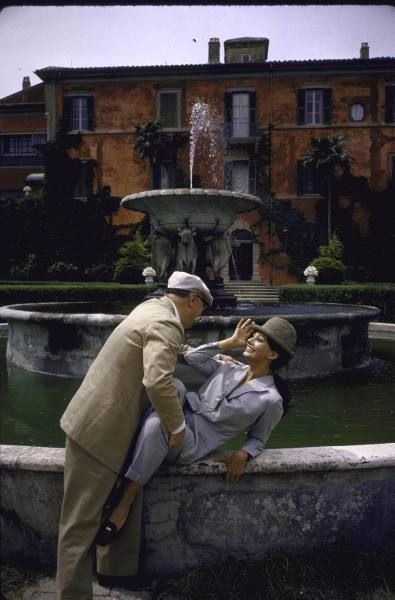 Carlo Ponti and Sophia Loren via messynessychic