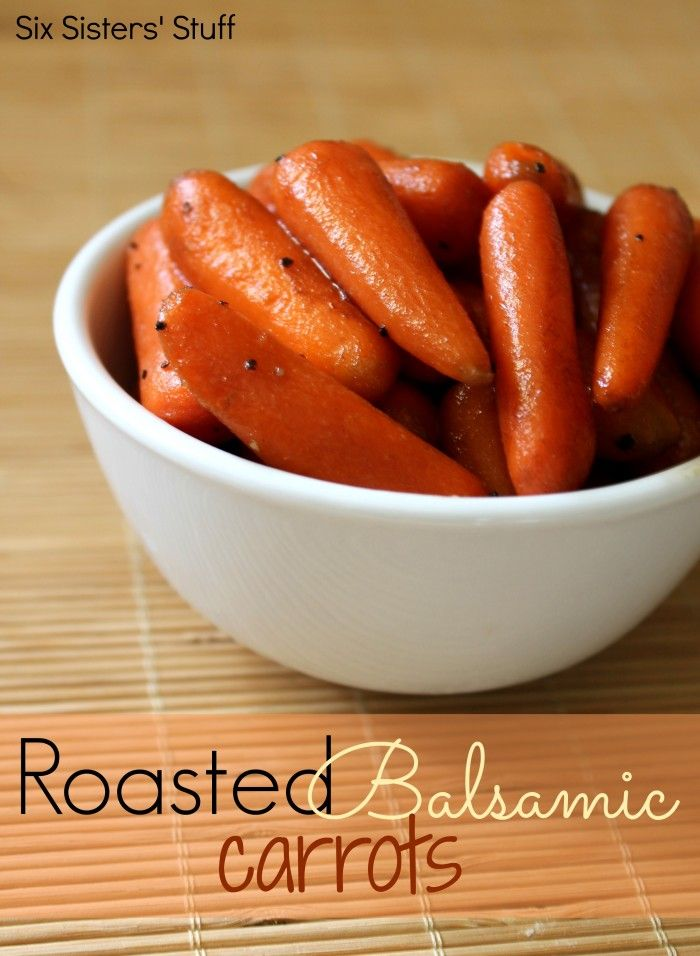 Roasted Balsamic Carrots on MyRecipeMagic.com ~I had these last night and they were amazing!