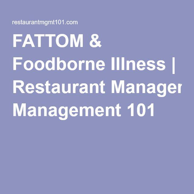 FATTOM & Foodborne Illness | Restaurant Management 101