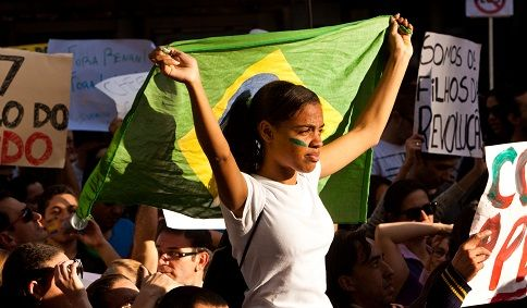 Brazilian women protest topless in streets to fight proposed abortion ban
