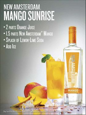 Cheers!! Let's drink a New Amsterdam Mango Sunrise! | Our Military Life Blog