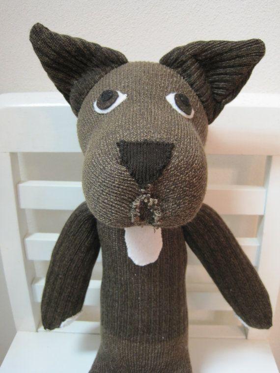 Sock Dog by scooterandgoose on Etsy, $30.00