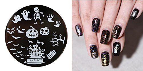 motif d'estampage pour art d'ongles plaque métallique art d'ongles modèle d'estampage Festival d'Halloween – FashionLife