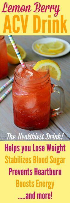 ACV DRINK - Berry Lemon Apple Cider Vinegar Drink Recipe By Primally Inspired