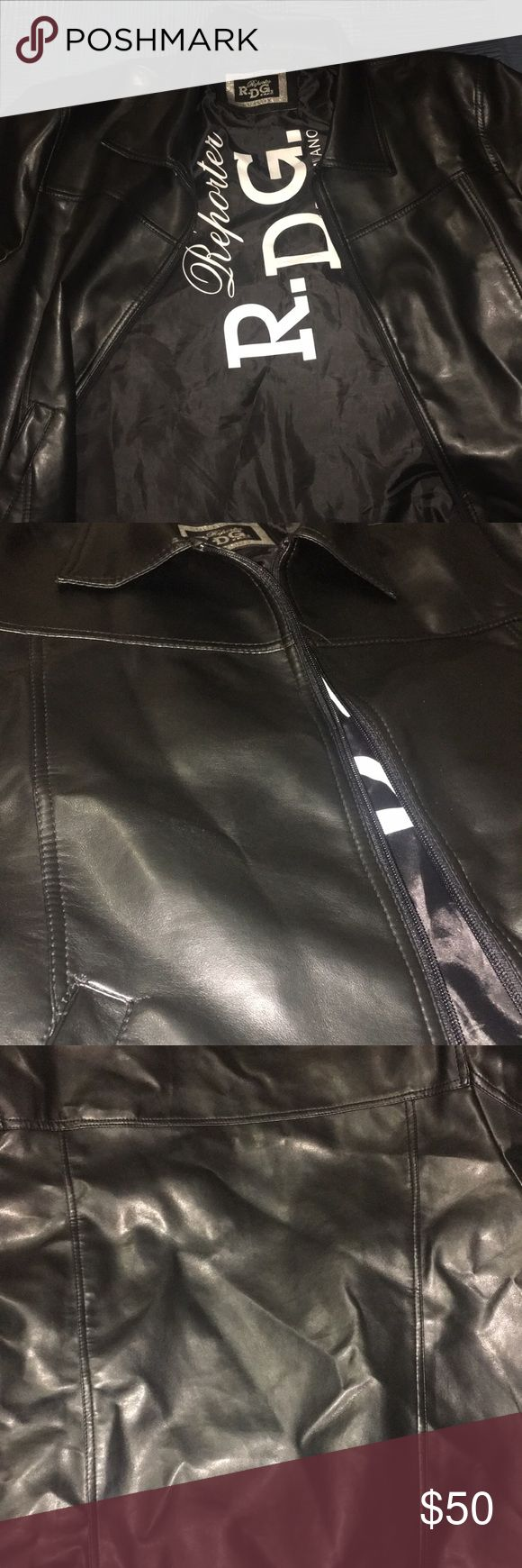 R.D.G Milano leather jacket Leather jacket, Leather