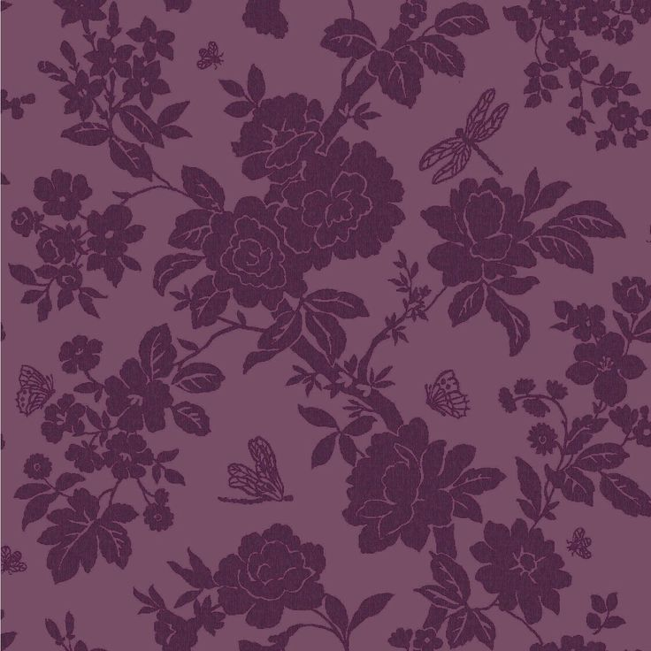 Holden Dcor Nina Purple Wallpaper