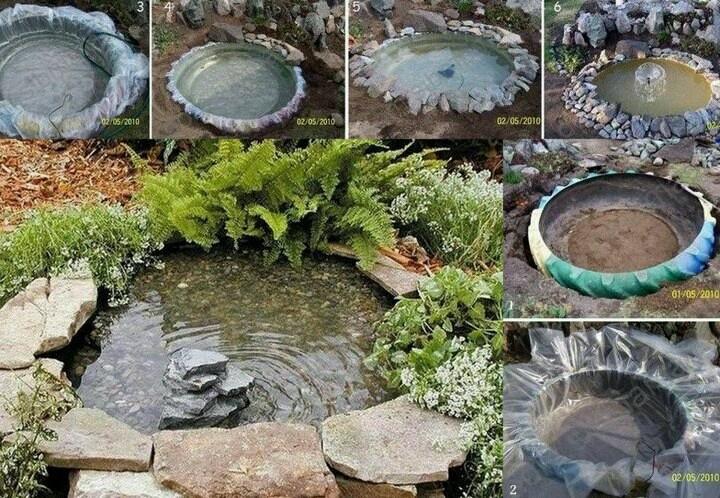 Como hacer una fuente en t jard n jardin pinterest for Ideas para hacer un jardin en casa