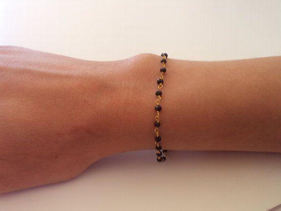 Rosary Bracelet  Gold Bracelet  Dainty by VasiaAccessories on Etsy