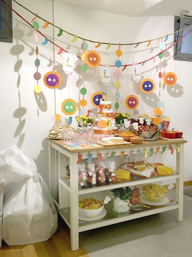 Babyshower-happyhour-tutine-bottoni-bottoms-babygro-bucato-laundry-calzini-buffet-decorazioni-partydecoration