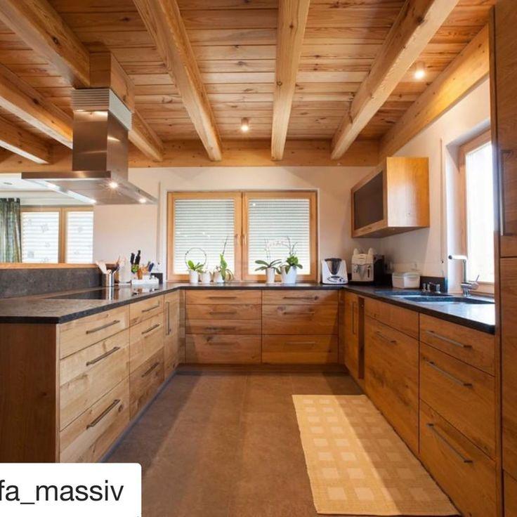 Küche aus Holz: Eiche