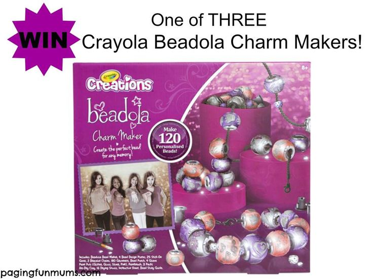 { CRAYOLA Charm-Maker Give-Away }  WIN 1 OF 3 Crayola Beadola Charm Makers!!  Please write the name of the little one who would this, then click here:  http://pagingfunmums.com/2014/11/21/mummy-matching-bracelets/