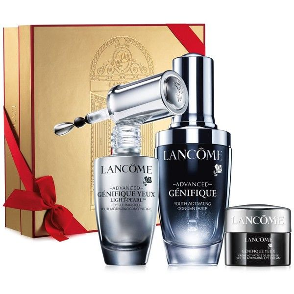Lancome Advanced Genifique Holiday Gift Set (12320 RSD) ❤ liked on Polyvore featuring beauty products, skincare, eye care, no color, lancome skin care, lancome skincare and lancôme