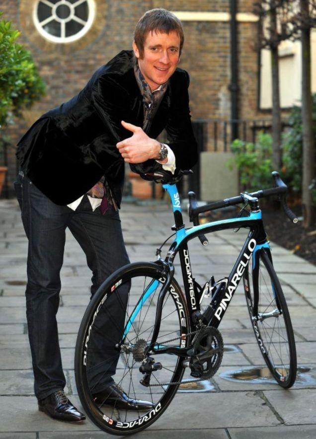 Bradley Wiggins the first British winner of the  Tour de France