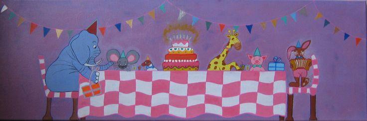 Schilderij verjaardagsfeest
