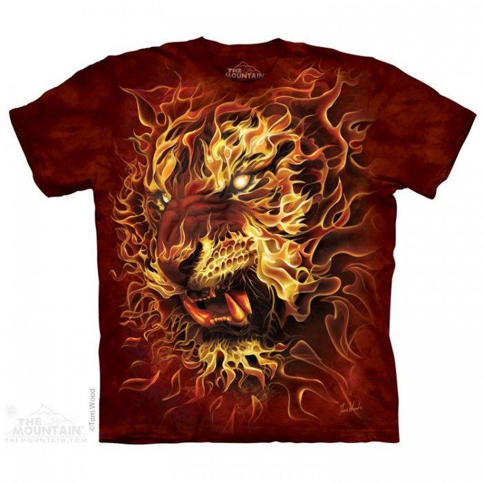 Tricou The Mountain - Cadou conservat Fire Tiger