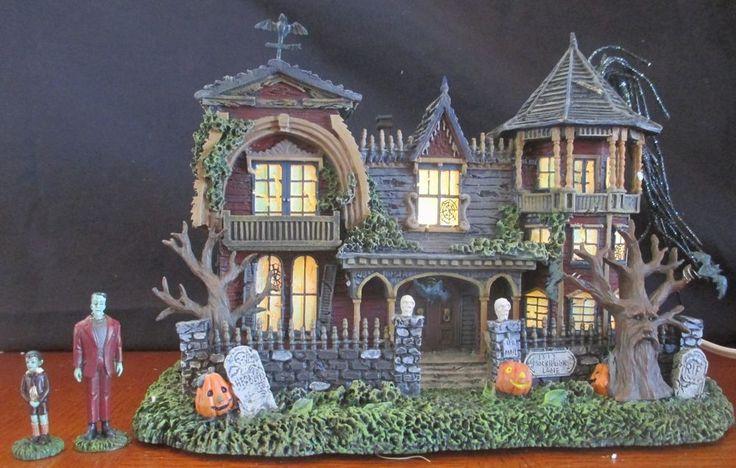 Munsters 1313 Mockingbird Lane Hawthorne Village Halloween House Light Eddie in Collectibles, Holiday & Seasonal, Halloween   eBay