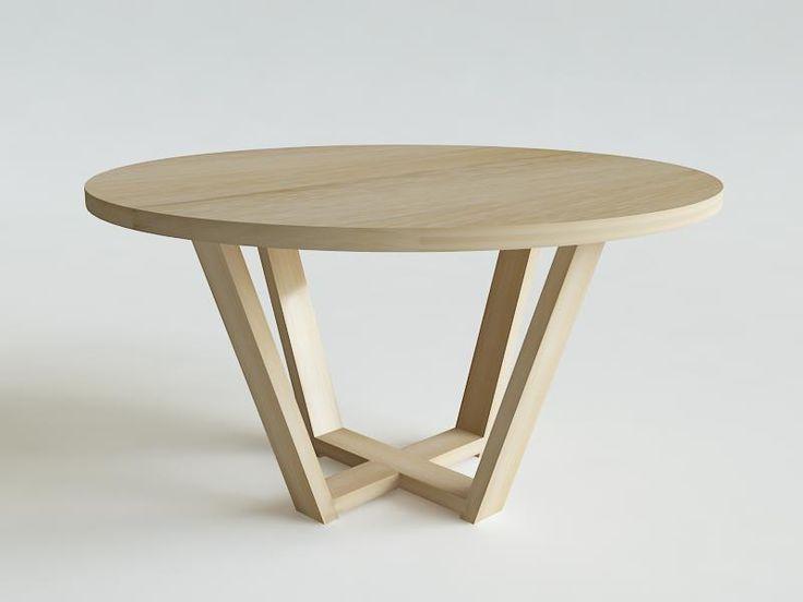 ELM stół fi 120cm lity dąb, wybór kolorów w KOSICKA design na DaWanda.com