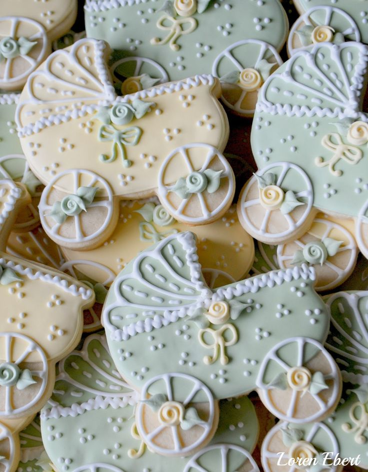 Baby Carriage Cookies by Loren Ebert  www.thebakingsheet.blogspot.com  I'm on Facebook: The Baking Sheet