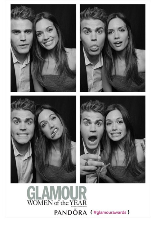 Paul Wesley from Vampire Diaries, with his wife, Torrey DeVitto, from Pretty Little Liars @ UK Glamour Awards
