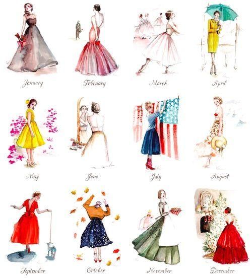Bild über We Heart It https://weheartit.com/entry/169618500 #art #book #calendar #dress #eyes #fashion #flower #girl #june #love #may #music #november #october #pink #red #spring #summer #winter #year #lala #2015