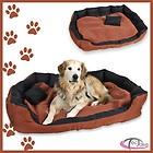 Lit douillet pour chiens panier corbeille couchage pour chats XXL brun/nior