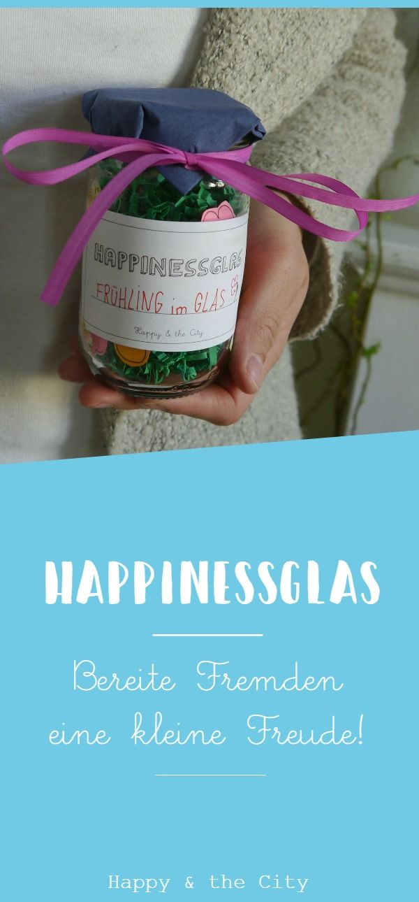 Happinessglas um Fremden eine Freude zu bereiten | Berlin Strassenkunst