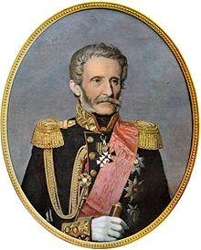 Porträt um 1859 von Charles Gleyre in russischer Generalsuniform und der Schärpe des russischen St. Annaordens