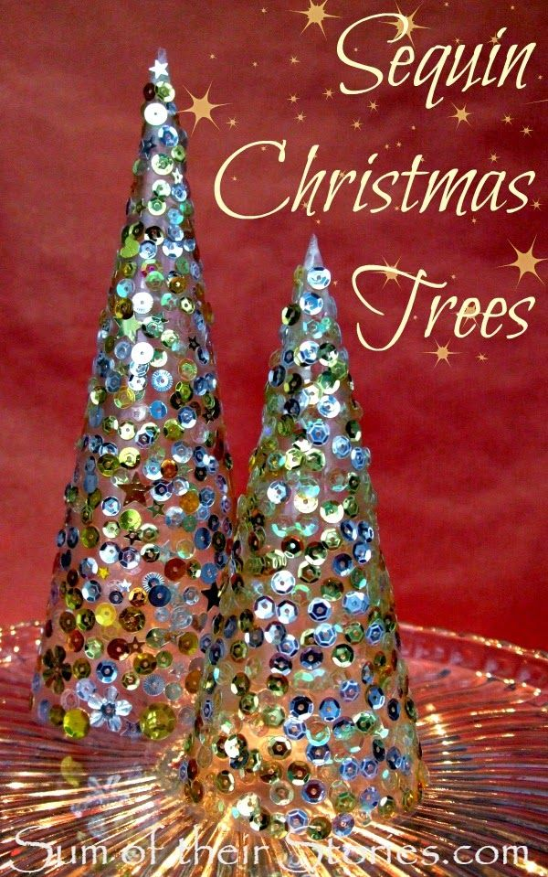 Sequin Christmas Tree Tutorial | sumoftheirstories.com | #decoration #festive #sparkle The Ultimate Party Week 28
