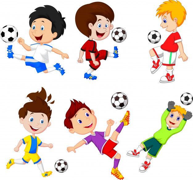Cartoon Little Boy Playing Football Premium Vector Kids Coloring Books Charity Logos Free Icons
