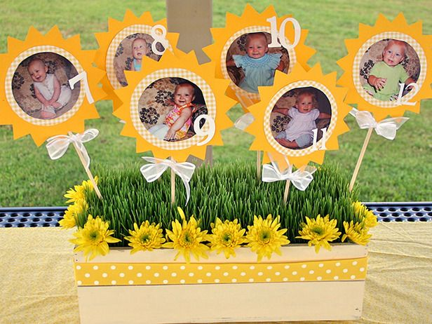 year pictures as party decor