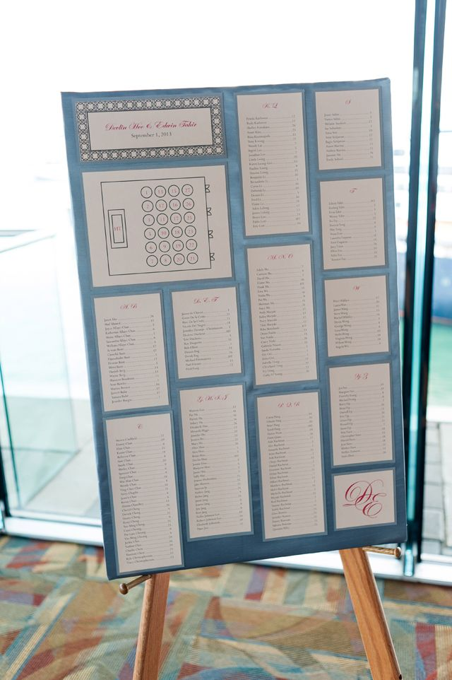 Custom Wedding Stationery : Classic + Elegant Style : Devlin + Ed : DIY seating chart